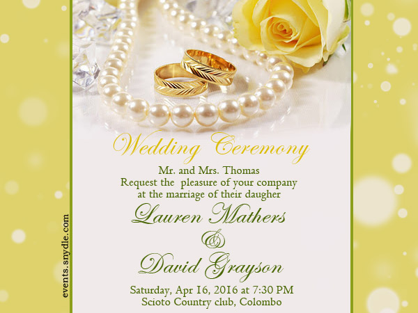 Marriage Ceremony Text
