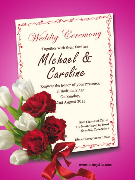 Quick Wedding Invite