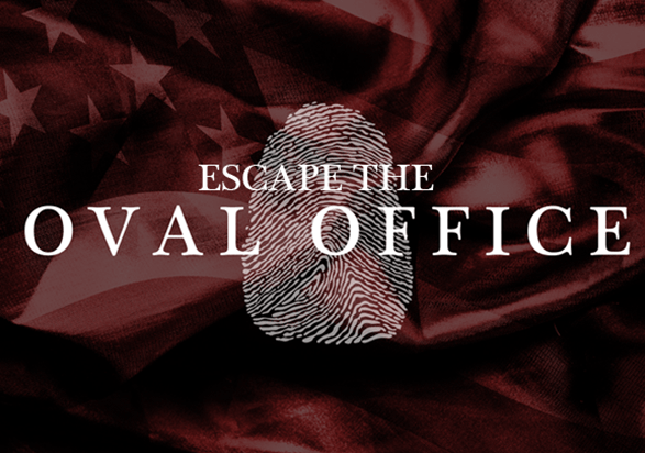 Logo for the Escape the Oval Office game
