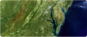 Chesapeake Bay and Mid-Atlantic StatesPhoto credit: NASA/USGS/Landsat
