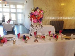One of the head tables