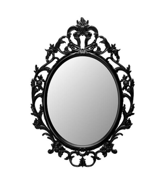 Black Oval Mirror Image
