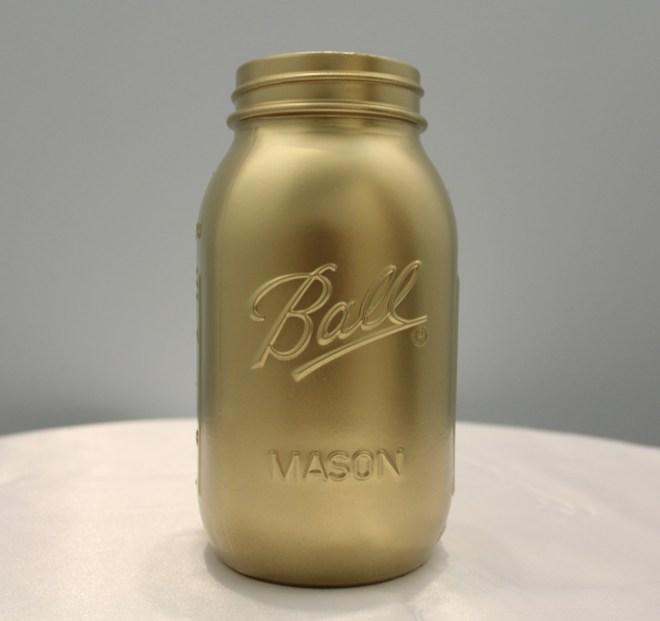 Gold Mason Jars Image