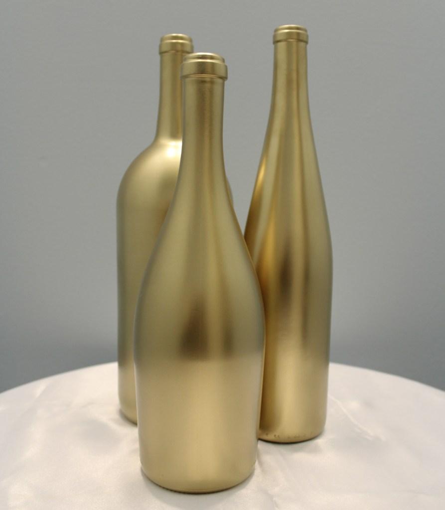 Gold Wine Bottles Image