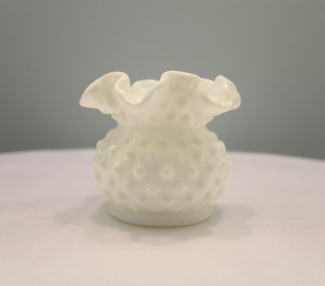 Mini Milk Glass Vase Image