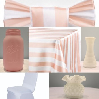 Blush Pink Stripe Inspiration from Events by Emerson