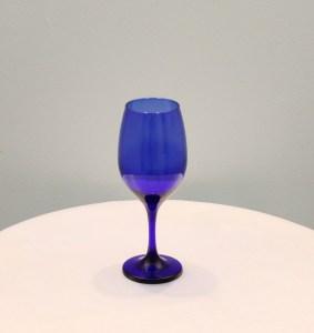 Cobalt Blue Wine Glass Image