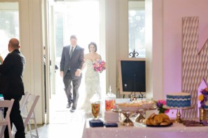 Jade and Drew's grand entrance into the reception