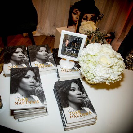 Toke Makinwa's Book 'On Becoming' on display at New York Book Tour