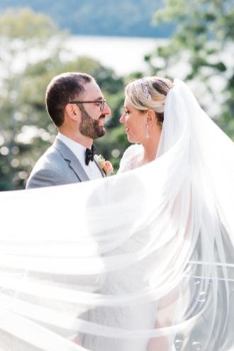 Portraits of Newlyweds at Untermeyer Park in Yonkers, NY