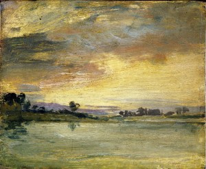 Sunset on the River 1805 Turner and the Thames Exhibition Turners House Twickenham. copyright Tate