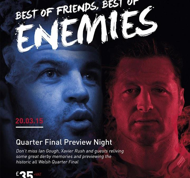 Dragons V Blues – Best of Friends, Best of Enemies Quarter Final Preview Night