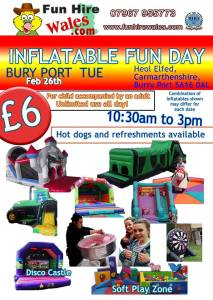 Inflatable Fun Days for kids in Carmarthenshire