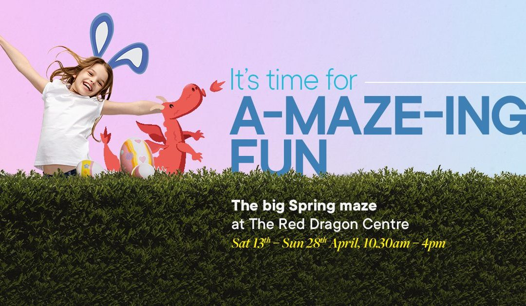 A-maze-ing fun with big Spring Maze at The Red Dragon Centre