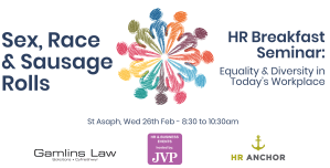 HR Breakfast Seminar: Sex, Race & Sausage Rolls – Equality & Diversity in Today's Workplace @ JVP Group