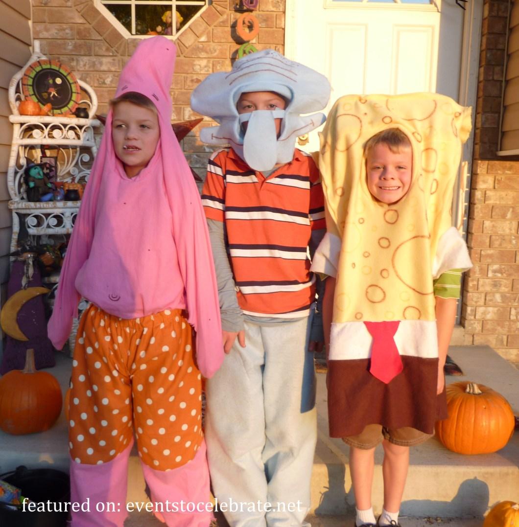 spongebob halloween costume diy   cartooncreative.co