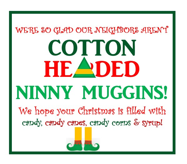 Elf Inspired Neighbor Gift Events To CELEBRATE