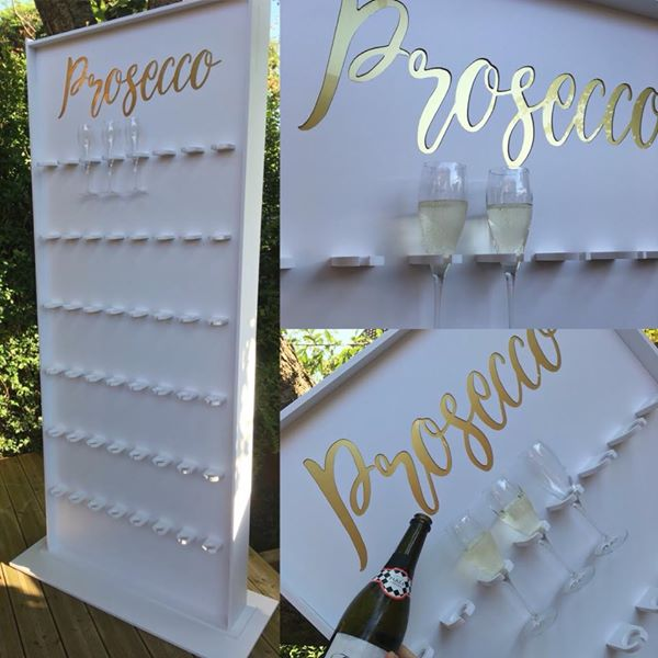 Prosecco Wall Hire for Weddings, Birthdays, Christening, Corporate
