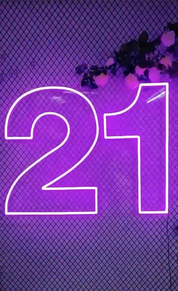 21st Birthday Neon Sign