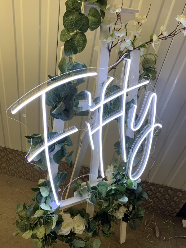 Fifty / 50th Birthday Neon Sign