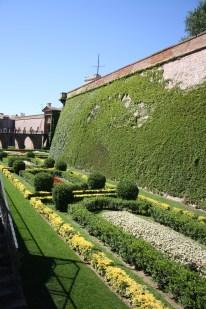 Anlagte haver langs med Catell de Montjüic