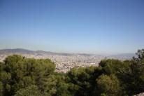 Udesigten over Barcelona fra toppen af Montjüic
