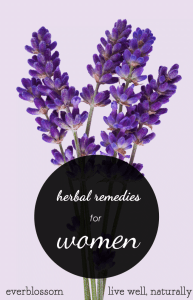 Herbal remedies for female health, including PMS, menopause, stress, headaches, etc.
