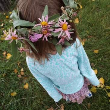 DIY herb + flower crown