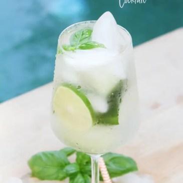 Cucumber lime basil cocktail