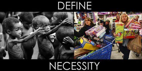 Black Friday Define Necessity