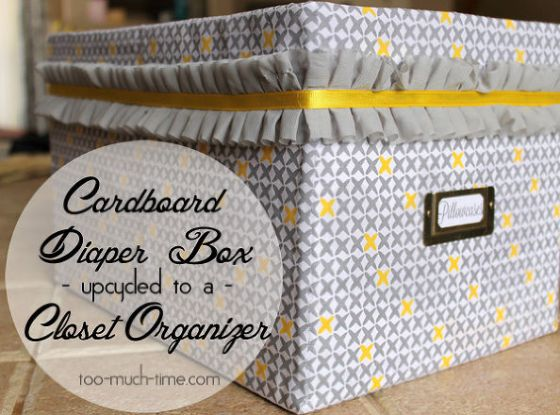 Did you know this is made with a diaper box? How Cute!
