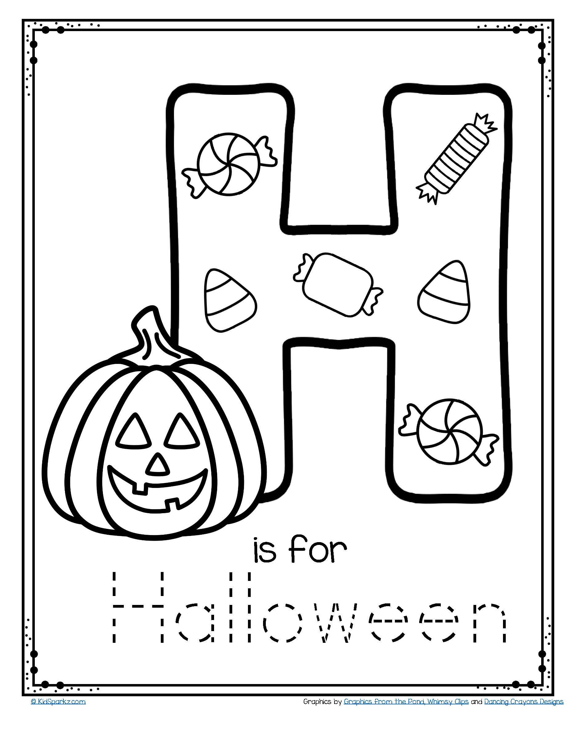 Free Halloween Worksheets For Kindergarten