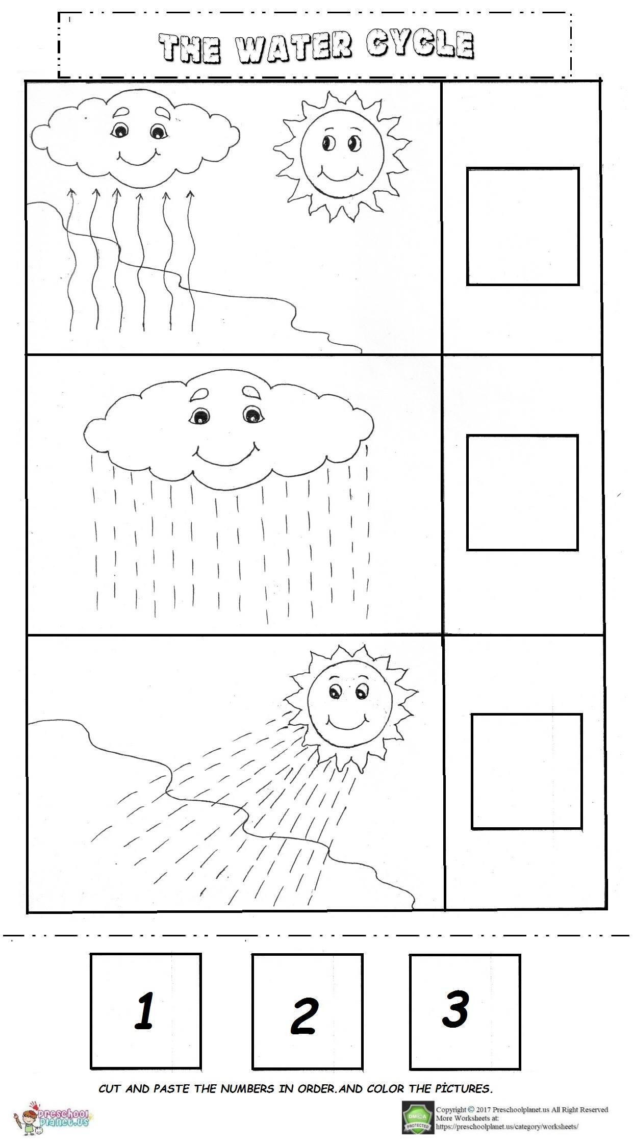 Free Printable Water Cycle Worksheet Worksheet For