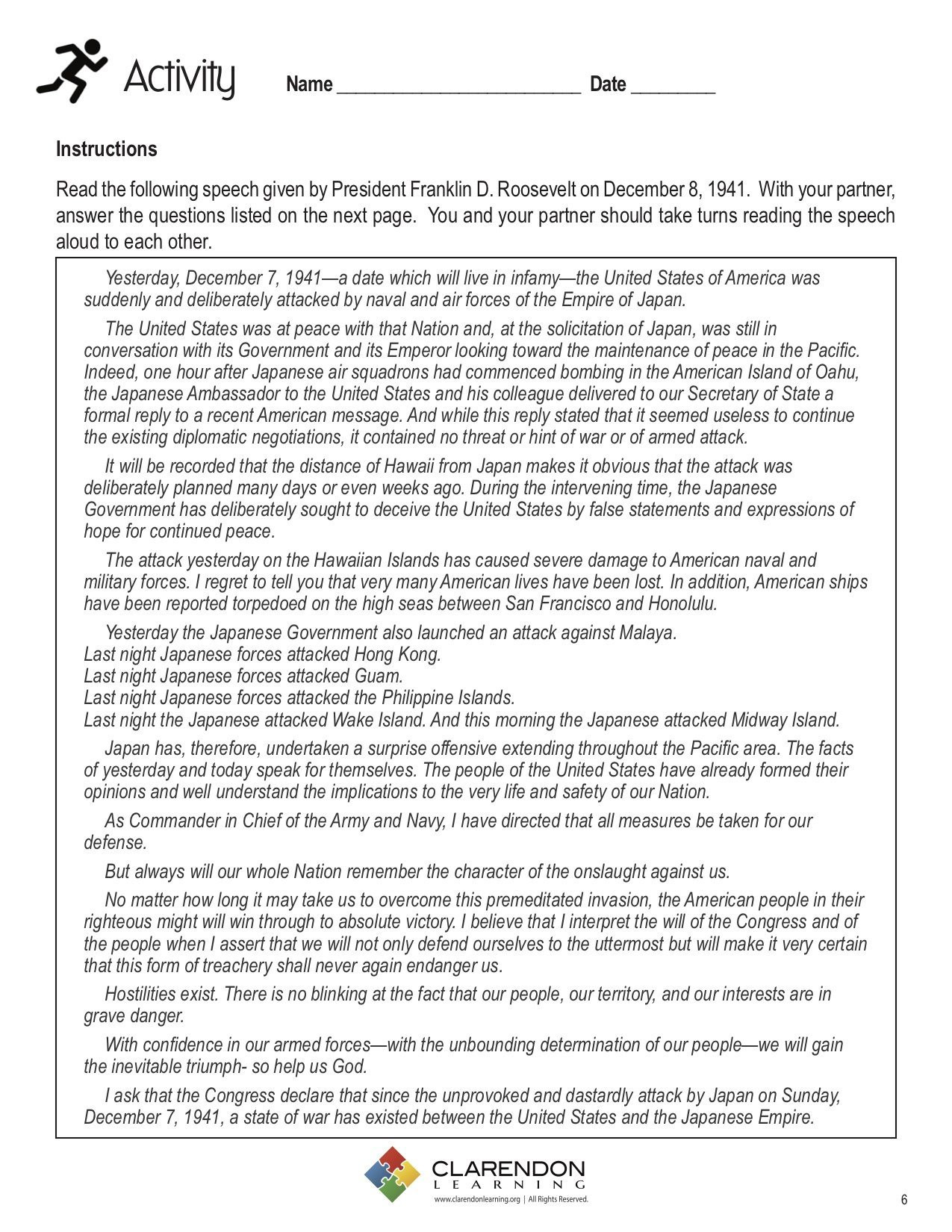 Pearl Harbor Worksheets Printable Worksheets And Activities For Teachers Parents Tutors And Homeschool Families