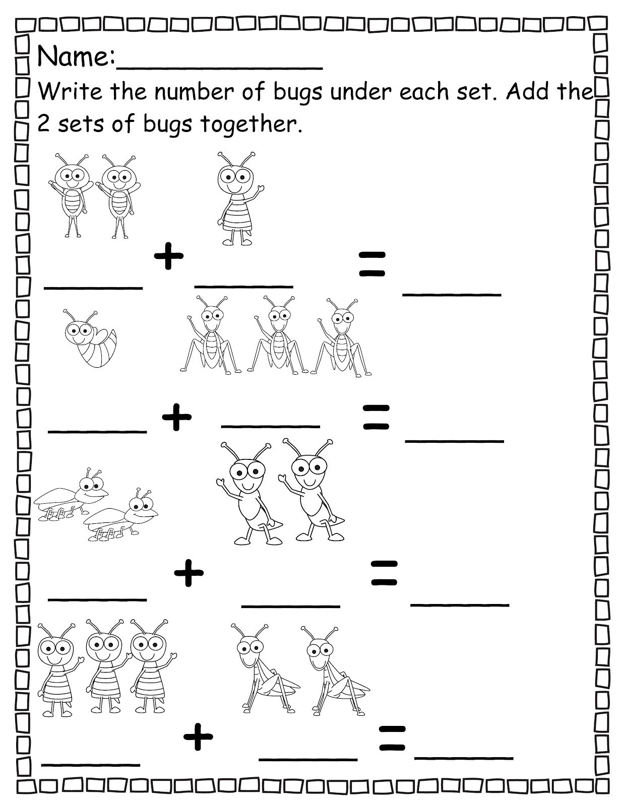 Pre Kindergarten Worksheets Numbers
