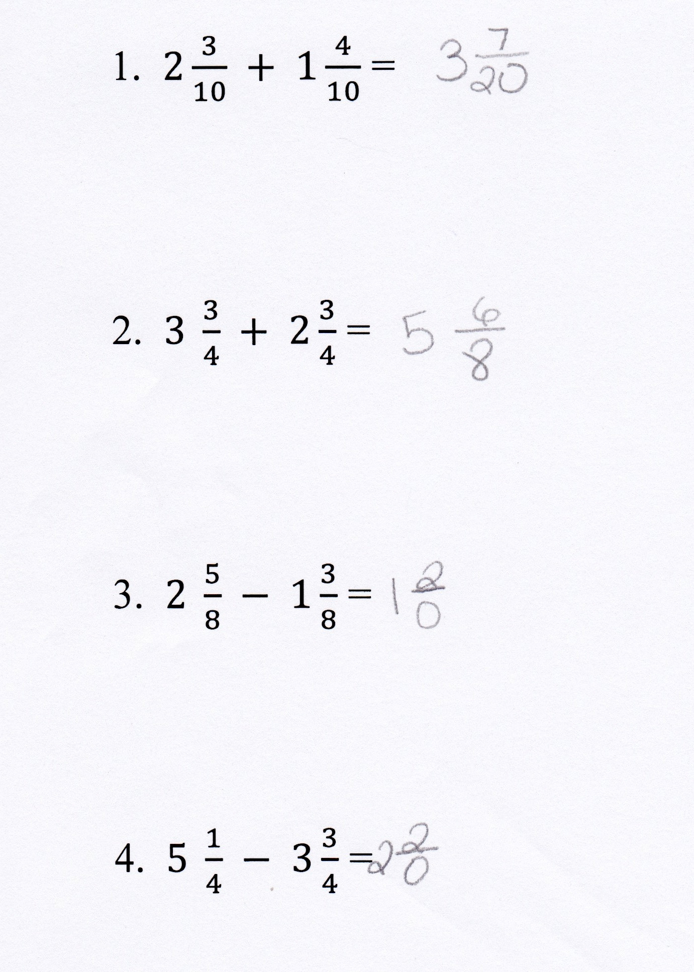 Add Subtract Mixed Numbers Worksheet Worksheet For