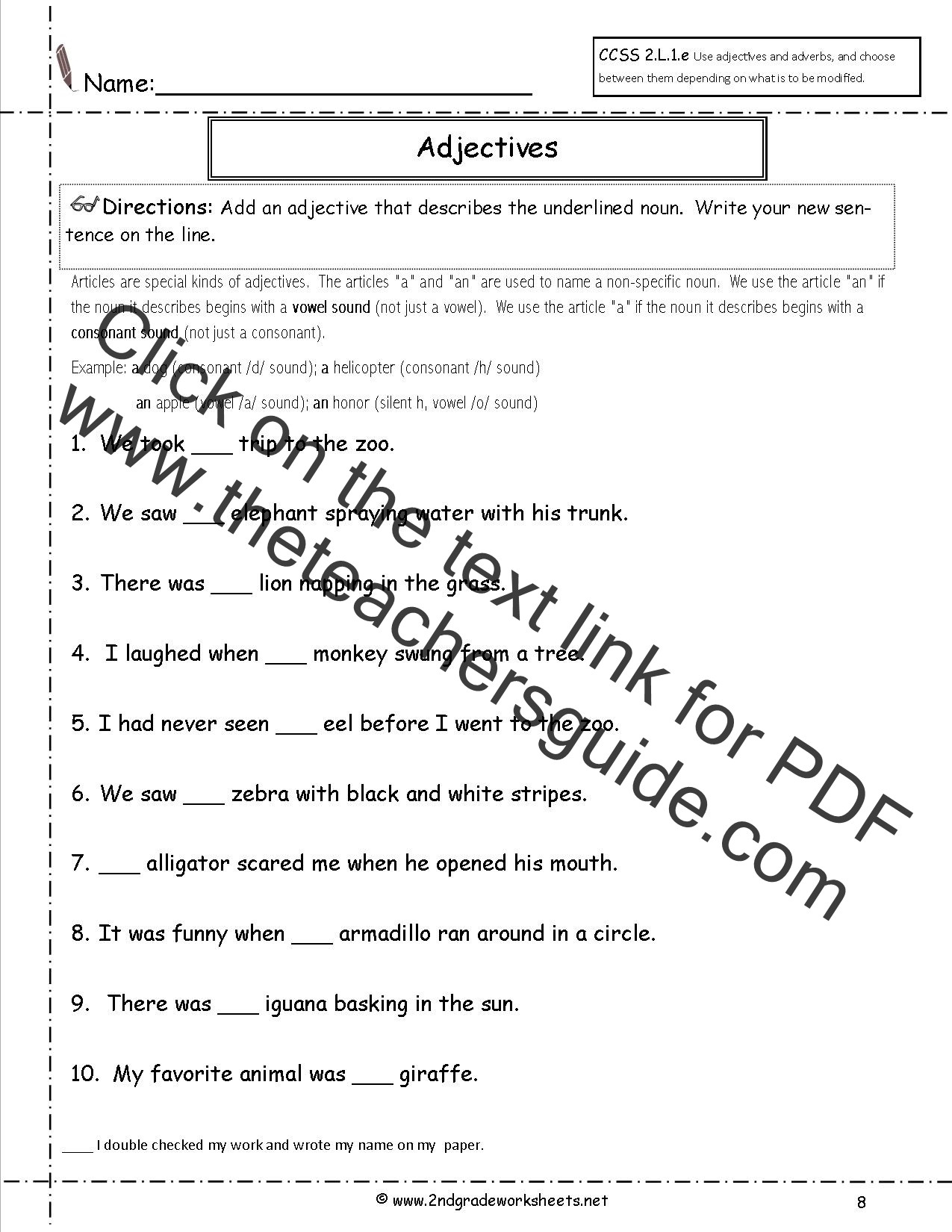 Free Printable Capitalization Worksheets