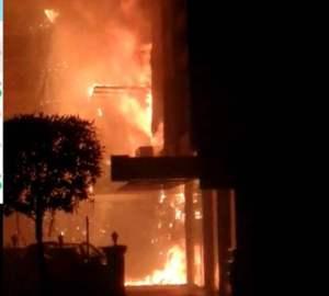 कोरोनाका बिरामी राखिएको होटलमा आगलागी, ७ जनाको मृत्यु