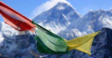 Mount Everest flag base camp