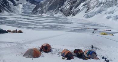 mountain trip camp 1 everest