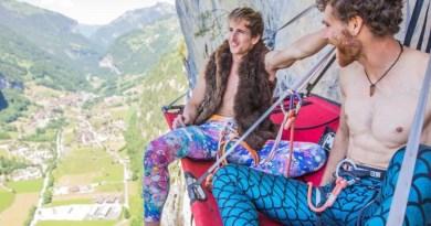 Sébastien Berthe, Siebe Vanhee repeat Fly on Staldenfluh in Lauterbrunnental, Switzerland