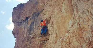 """""""CHARLIE BROWN"""" ....a good new route up the right part of Sass Ciampac, Dolomites messner"""