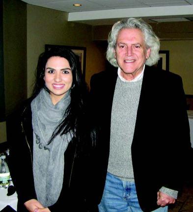 Everett activist and youth champion Stephanie Martins with Leader Herald Publisher Josh Resnek.