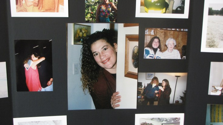 A photo spread from Firefighter Susan Pipitone-Braley's life was showcased at her wake.
