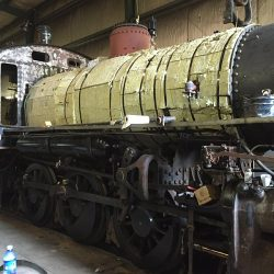 September 1, 2015: Boiler lagging and side rods are in place as restoration continues to progress.