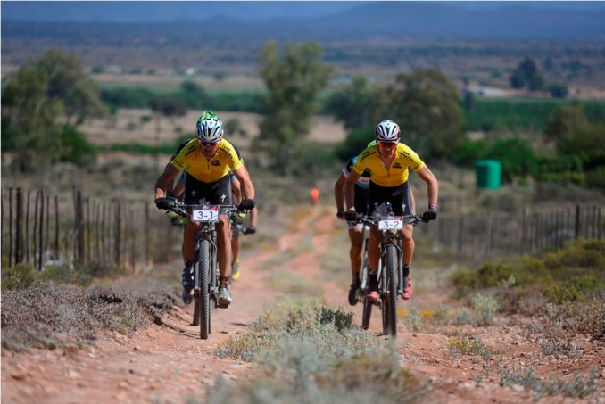 The defending champions Nico Bell and Gawie Combrink, of NAD Pro MTB, are back for the 2017 Momentum Health Cape Pioneer Trek, presented by Biogen. Photo by Zoon Cronje.