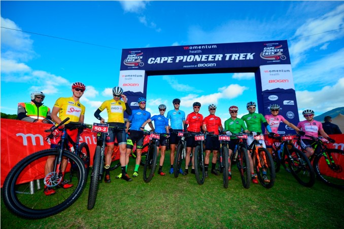 The Momentum Health Cape Pioneer Trek, presented by Biogen, features UCI elite men's and women's categories, along with amateur categories for mixed teams, veteran men, masters men and solo men and women. Photo by Zoon Cronje.