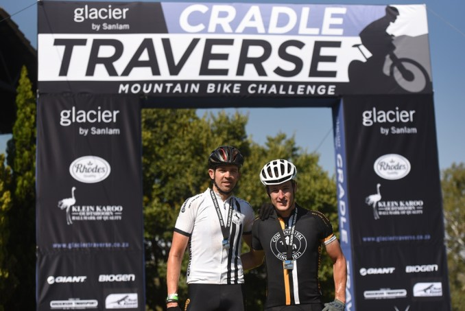 2018 Glacier Cradle Traverse champions Andrew Stockwell (left) & Bryce Munro (right) of the Continental Tyres team. Photo by Sage Lee Voges/www.zcmc.co.za.
