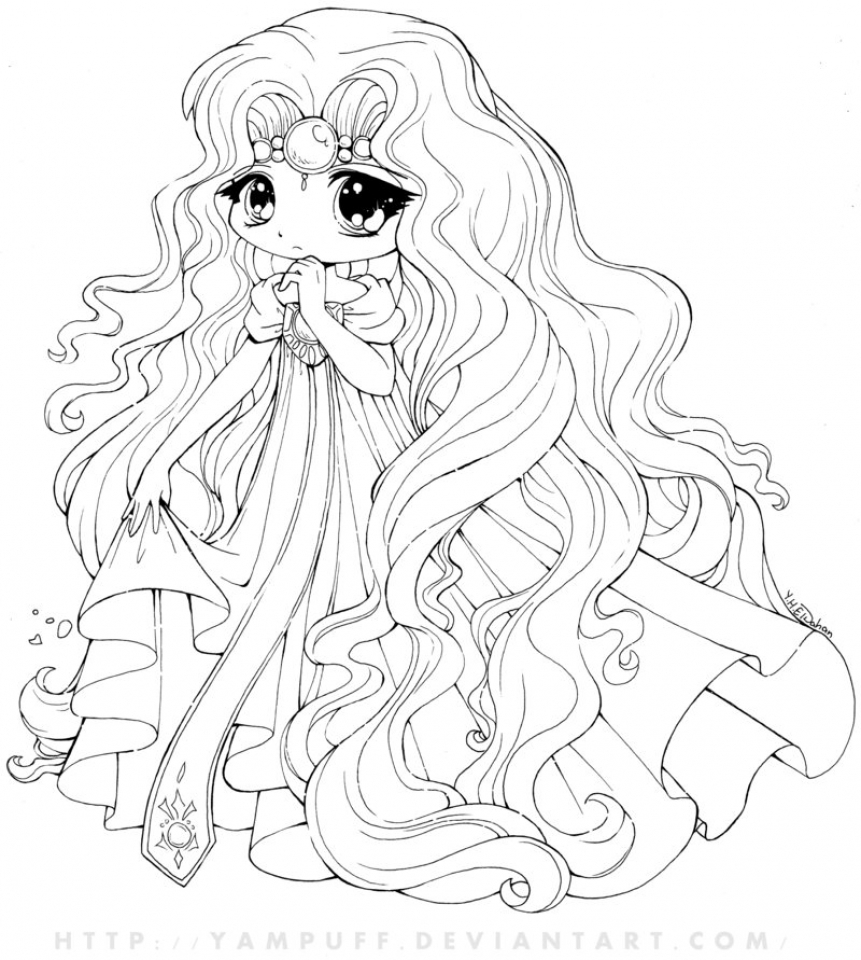 Chibi Coloring Pages for Toddlers   MHTS9