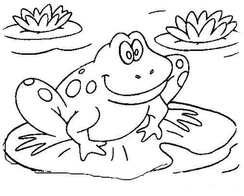 Children's Printable Frog Coloring Pages BTB4A
